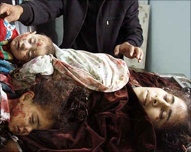 Korban Ibu dan Anak Palestina