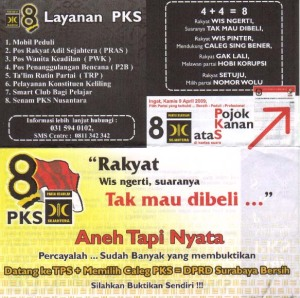 Brosur PKS Surabaya Depan