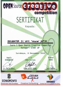 Tim Inkubator SI Juara I Lomba Open Source